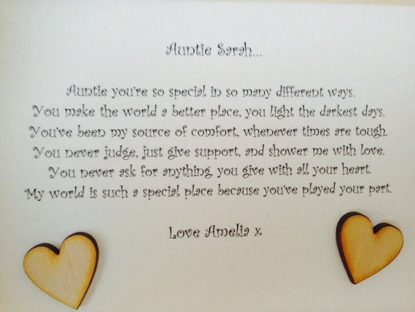 Shabby Personalised Chic Box Frame Special Auntie Aunty Aunt Great ...
